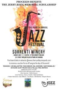PAJazz-Poster 2017 wine & jazz